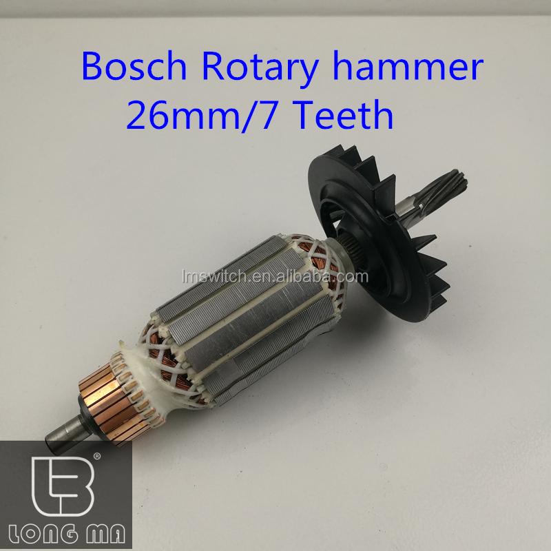 power tool armature and field for hammer bosh GBH 2-26 drill rotor