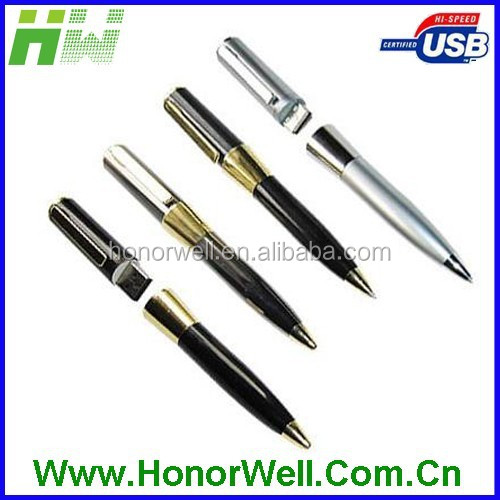 Shinning Soft Touch Handwriting Metal 4GB Usb Flash Pen Usb Flash
