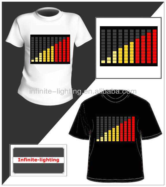 new design luminous costumes/El Flashing T-shirt Panel
