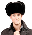 CX-C-106A Black Unisex Head Wear Genuine Russian Mink Fur Men Hats