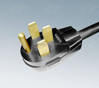 US heavy duty 4 core power supply cable and power plug