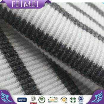2016 Newest High Quality Flat Back Rib Stripe Fabric Wholesale in China