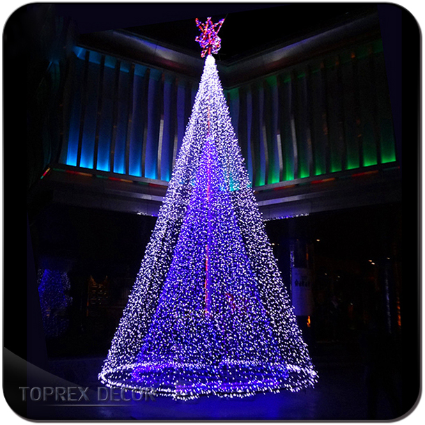 Giant Outdoor Artificial Cone Led Christmas Tree Lights