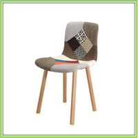 Comfortable Cloth Seat Wood Design Dining Chair