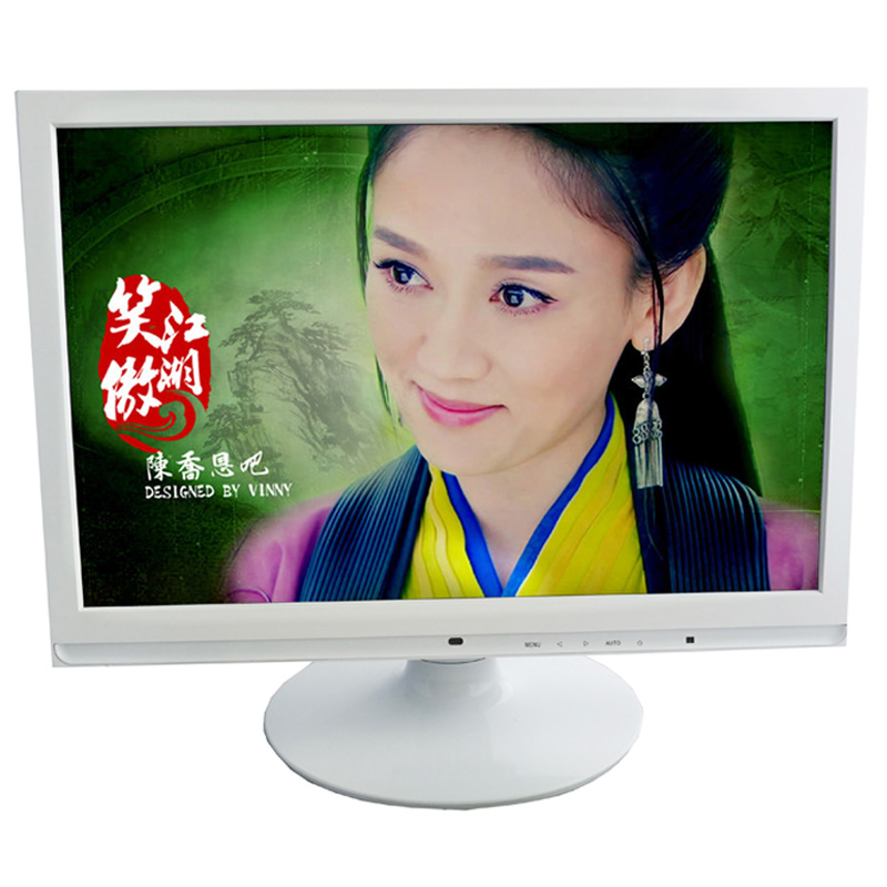 "White color dc12v wholesale 19"" led lcd monitor with bnc input"