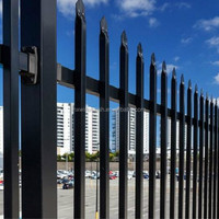 Black Powder Coated Heavy Duty Steel Fence Panels