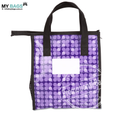Customized Purple Insulated Thermal ID Laminated Non-Woven Lunch Bag