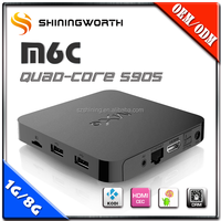 Hot Selling s905 KODI 16.0 H.265 TV Set Top Box/Android TV Box With rgb/ 3D Smart TV Box Manufacturer