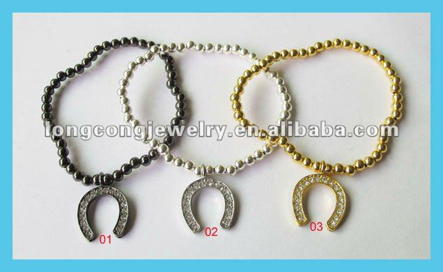 E469 Fashion accessories of horseshoe charm bracelet set of 3