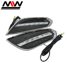 Factory Wholesale! For Volvo S60 2009~2013 White Cars Led DRL Daytime Running Front Fog lights