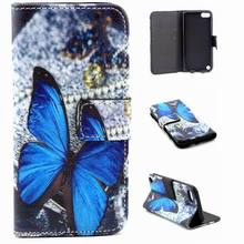 wallet PU leather flip case for iPod Touch 6th/5th Generation