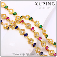 71903 Imitation Jewellery 24K gold plated Bracelet, Jewelry Fashion Diamond and Stone Bracelet, Summer Newest bracelet