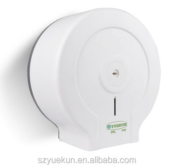 Yuekun factory supply anti-dust toilet wall mounted roll paper manual hanging paper dispenser YK2085
