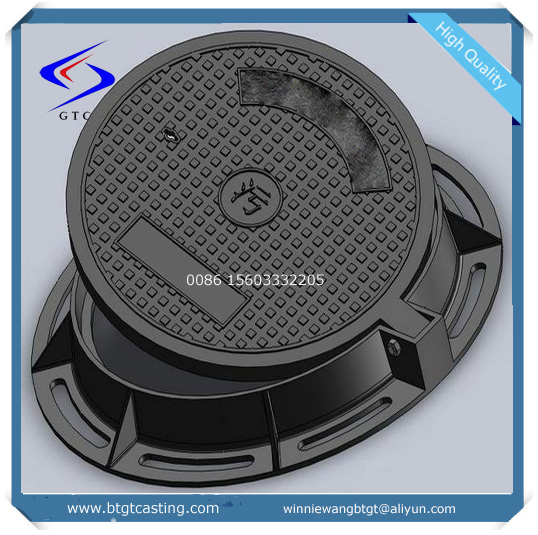 High performance industry iron sewer drain cover D400