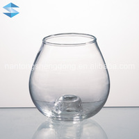 bowl-shaped bright glass votive candle holder container