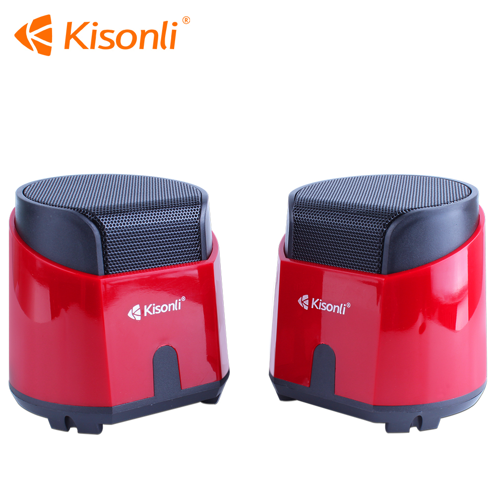 New design Kisonli K500 Mini Computer Multimedia Woofer Laptop Speaker /Sound Box
