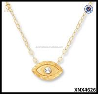 Sterling Silver Eye Shape Necklace 14k Gold Fill 925 Simple Necklace Sterling Silver Minimalist Jewelry