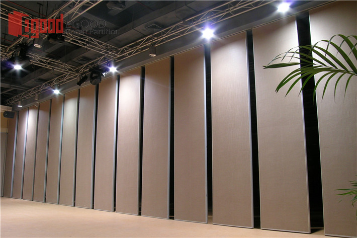 Exterior facility sliding movable wall panel
