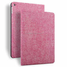 Hot popular luxury Unique Jean Texture tablet leather case for Ipad air2 for ipad cover stand up