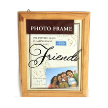 modern wood islamic wall decor hanging photo frames with double pane