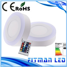 rgb +white color change 9w surface led panel light with remote controller
