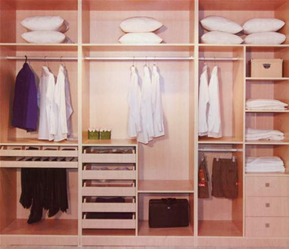 MDF Wardrobe with high glossy sliding door