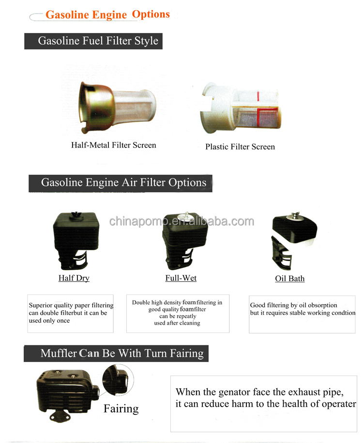 Hot sale High Quality Economical Chinese Gasoline Motor For Boat