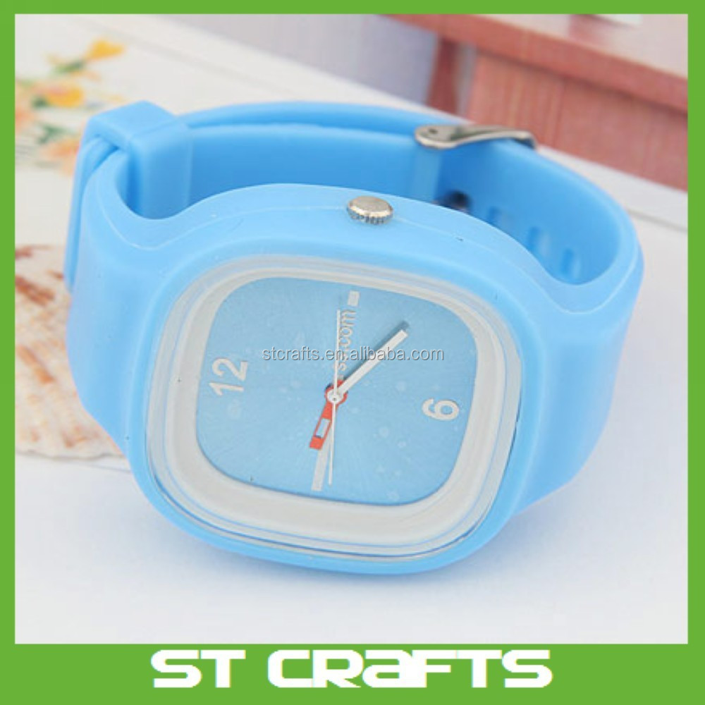 Customized logo silicone Jelly watches with removable face,silicone watch women on 2015