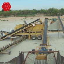 150TPH Gold River Stone Portable Crushing Plant