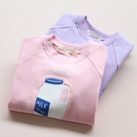 Factory price customized logo professional kids long sleeve clothing for girls in china 3785