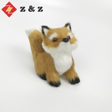 2018 new design festival decoration fake fur fox and christmas tree ornaments