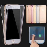 Ultrathin Clear Transparent TPU Silicone Fleible Soft Cover Case For Apple iPhone 6 6s / Plus / 5S SE Full Protect Phone Case