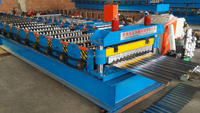 galvanizing steel thin metal sheet Wave roof tile wall panel roll forming machine