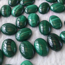 China Low Price Natural Oval 13*18MM Malachite Rough Malachite Wholesale