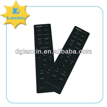 English letter Plastic remote control keypad with adhesive