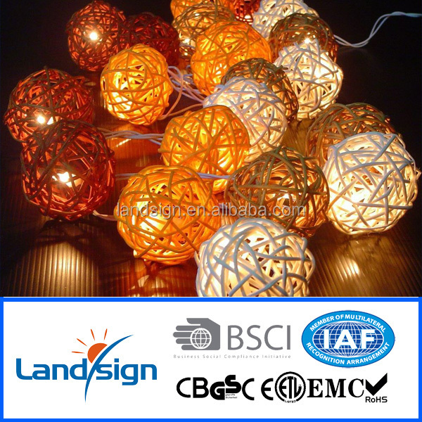 High quality XLTD-122 holiday decorative light solar string light rattan ball