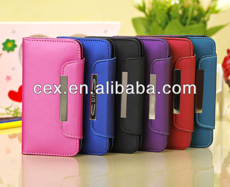 BLUE LUXURY FLIP FOLIO PU NUBUCK LEATHER WALLET CASE COVER FOR APPLE IPHONE 5C