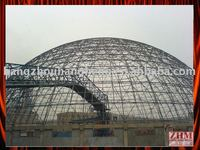 Per-fabricated Structural Steel Arched Roofing Stadium