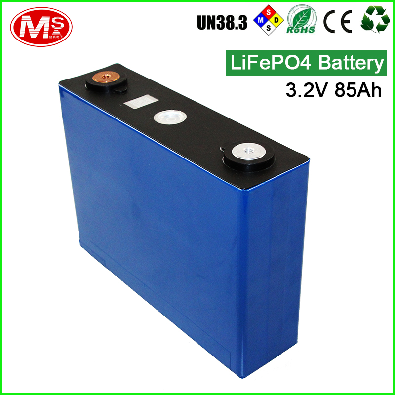 Rechargeable lithium ion battery 3.2v 85ah LiFePO4 battery cell for wind power supply and power storage