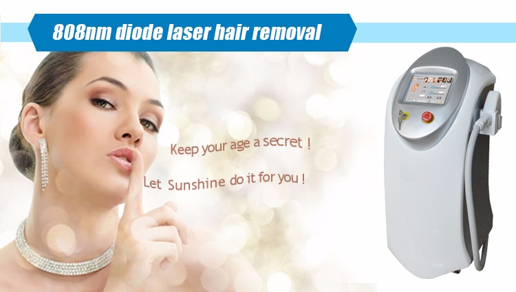 Vertical 808nm diode laser commercial laser hair removal machine