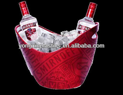 7L plastic led ice bucket