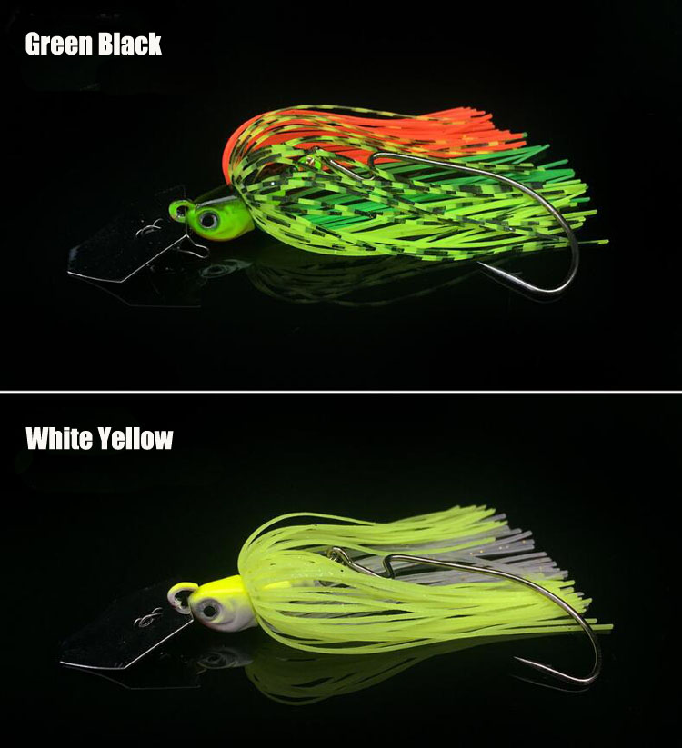 New Customized Lead Jig Head With Rubber Tail of Fishing Lure Spinner Baits