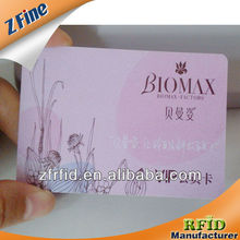 membership plastic cards with beautiful logo supplier in shenzhen