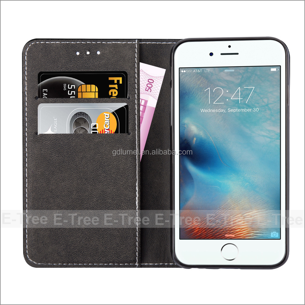 Wholesale High Quality Pu X Wallet Case Cell Phone Cover For Iphone 4 5 6