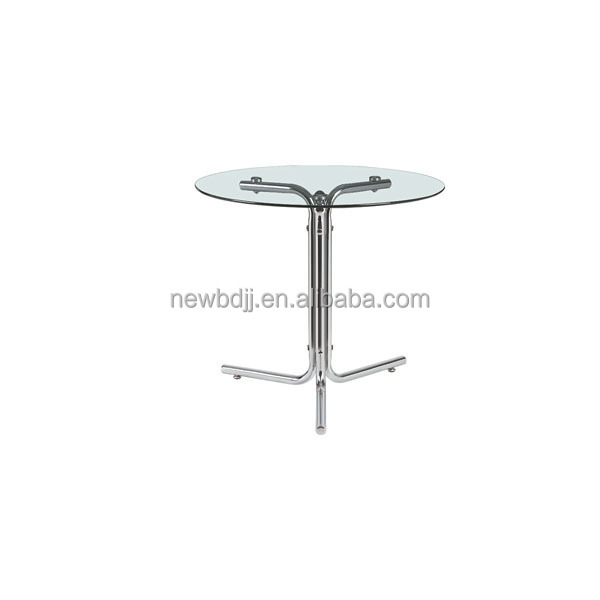 Home Furniture Small Round Tempered Glass Dining Table