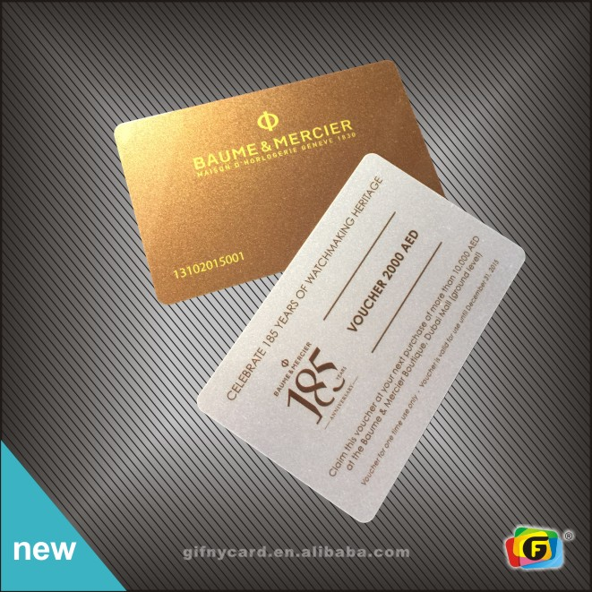 Custom design membership card pvc vip card