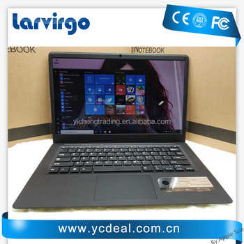 14 inch ultrabook with 4G RAM 64G SSD In-tel Atom X5-Z8350 Windows10 System Laptop WIFI with bluetooth camera