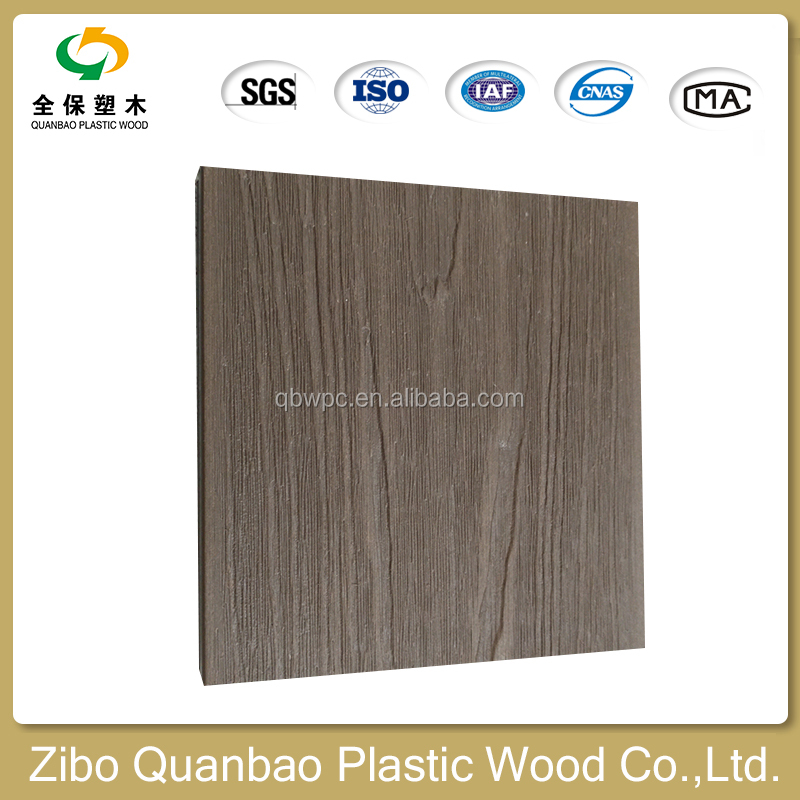 wpc China supplier embossed composite decking with UV-resistant high quality decking