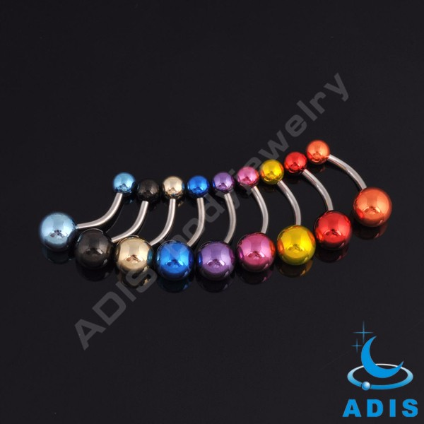 Most popular handmade pearl banana navel rings stainless steel belly button ring