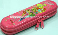 popular high quality tin pencil case with zipper